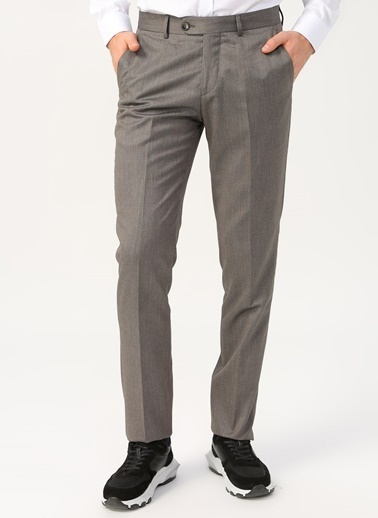 Cotton Bar Klasik Pantolon Vizon